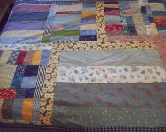 patchwork quilt, lap blanket, throw