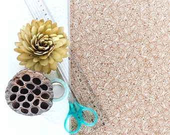 "A3 Wrapping Paper Sheet in ""Hedgehog Heaven"" - Brown recycled kraft paper"