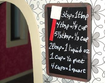 Miniature dollhouse faux kitchen chalkboard