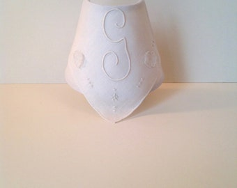 Vintage Madeira Monogrammed Handkerchief Night Light (READY TO SHIP) Initial G