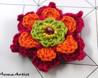 CROCHETED Flower Pony Tail