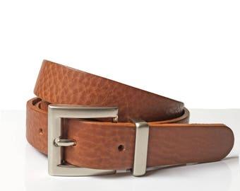 "Thin Leather Belt in Tan - 1"" - Handmade In London - Thin Belt - Womens Belt - Tan Belt - Women Dress Belt - Fashion - Small belt"