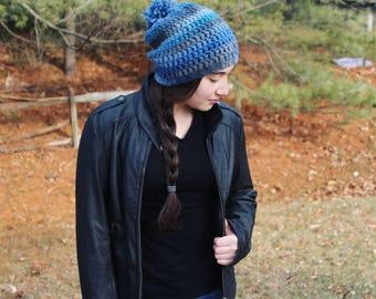 Blue Wool Beanie