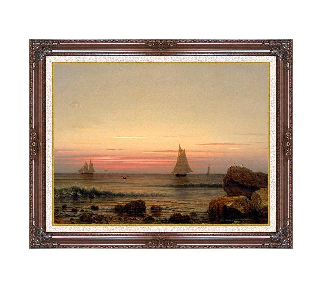 Framed Seascape Art Sailing off the Coast Martin Johnson Heade