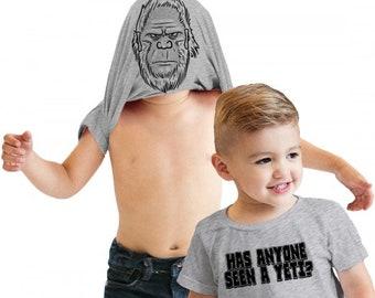 Yeti Shirt, Sasquatch Shirt, Funny Kids Shirts, Bigfoot Shirt, Yeti Flip Shirt, Funny Toddler Shirt, Kids Bigfoot Tees, Ask Me About My Yeti