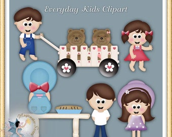 Children at the Park Clipart, Commercial Use
