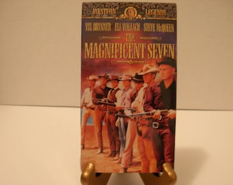 VHS Tape, Magnificent Seven, SEALED, Yul Brynner, Steve McQueen, Charles Bronson, Color, Free Shipping