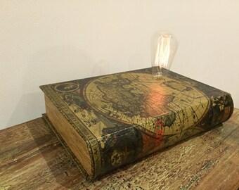 Dimmable Vintage Atlas BookBox Lamp