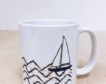 Waves & Boats_small Mug