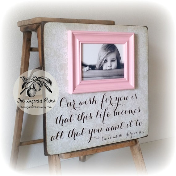 Personalized Baby Gift Baby Girl Goddaughter Gift Baptism