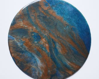"10"" Circular Resin Painting"