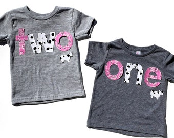 Farm Life,Pink,Girl, Birthday Letters one,Fabric Iron On Appliques,Other Numbers Available,NEW DESIGN