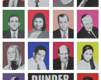 The Office Pop Art Painting