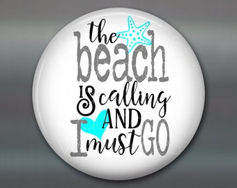 """3.5"""" beach themed gifts -  kitchen decor sayings - beach lover quotes - beachy quotes housewarming gift - beach cottage decor - MA-WORD-3"""