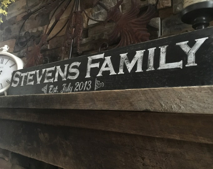Family Name Sign. Family Sign Wood. Rustic Wood Sign. Family Sign Personalized. Farmhouse Decor. Family Established Sign. Established Sign