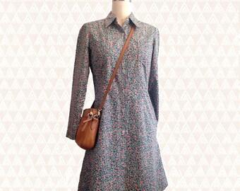 Petite • Long Sleeved • Button Up Dress