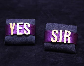 New! Shiny purple Harley Quinn YES SIR bracelets Original letters cuffs Cosplay Margot Robbie Suicide Squad Halloween Costume Leather BDSM