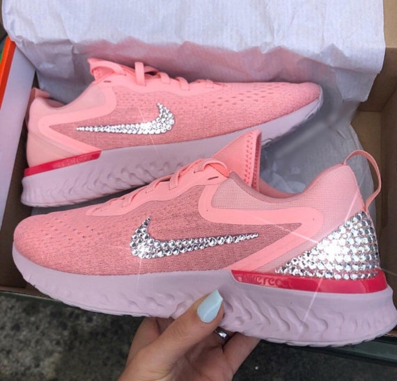 Women's Pink Shoes Nike Swarovski Bling React Odyssey 6SzHwqX