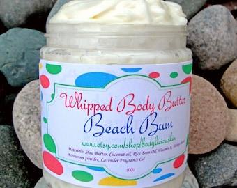 Whipped Body Butter | Beach Bum Body Butter | Body Cream | Lotion | Shea Body Butter | Natural Body Butter | Natural Lotion