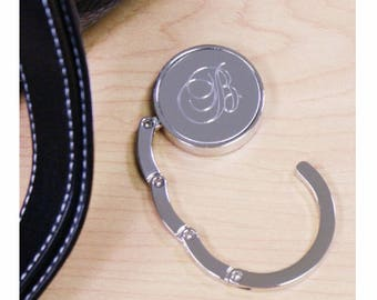 Personalized Engraved Folding Purse Hanger, Purse Holder, Purse Hook, Diaper Bag, Lunch Bag, Bridesmaid Gift, Wedding Party Gift [PGSph1]