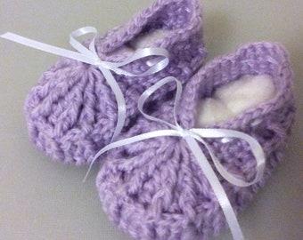 Crochet Baby Booties - Zapaticos de Bebé a Crochet