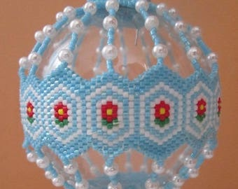 Wallflowers Table Top Beaded Ornament Cover e-pattern
