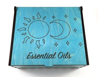 Sun & Moon Essential Oil Storage, 42 Slots, Aromatherapy Storage Box, Essential Oil Case, Aromatherapy Oil Organizer, Oil Display, Oil Box