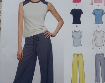 Easy Top and Pants Pattern Newlook 6403 Misses Size 8 to 18 Stretch Knits Only Pattern