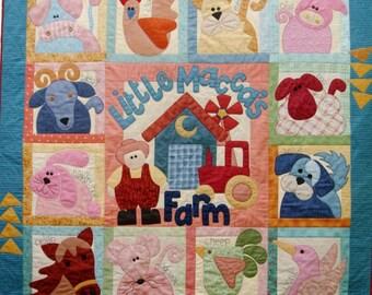 Little Macca's Farm Quilt Pattern - Set of 14 Patterns