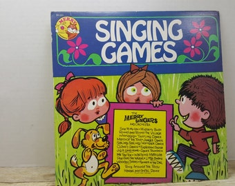 Singing Games Album, 1972, The Merry Singers and Orchestra, vintage kids album