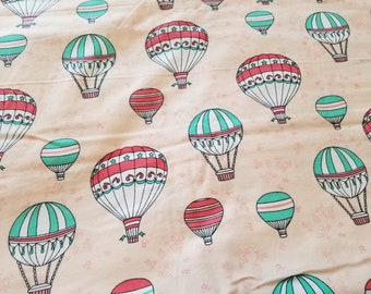 Hot Air Balloon Flannel Fabric | Balloon Nursery Fabric | Hot air Balloon Fabric | fabric by the yard | Fabric for Her