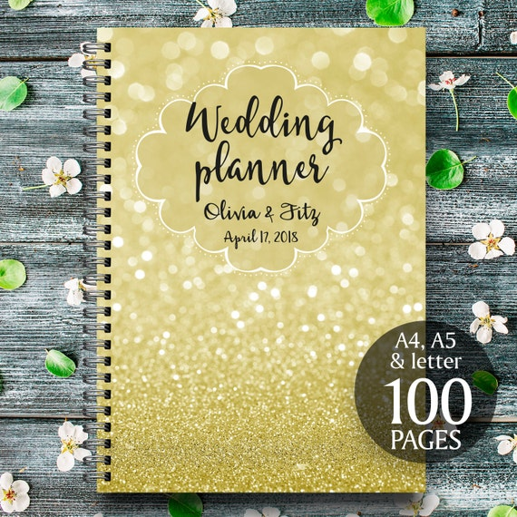Gold wedding planner, Glitter wedding planner, Printable wedding binder, Digital wedding checklist, Gold wedding organiser, Gold wedding kit