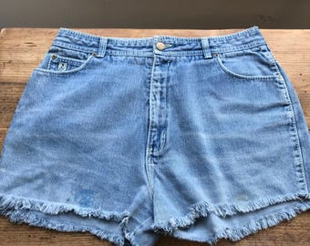 "Vintage denim shorts  "" Bon hour """
