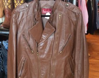 Vintage 80's Brown Leather Jacket