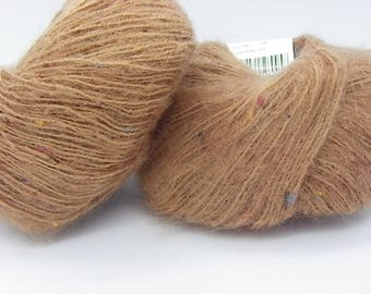 1 ball of mohair and rust wool thrifted 120 m of wool in Peru