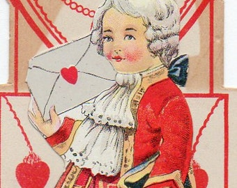 VINTAGE VALENTINE, Pop-up, made in USA,  collected by junqueTrunque