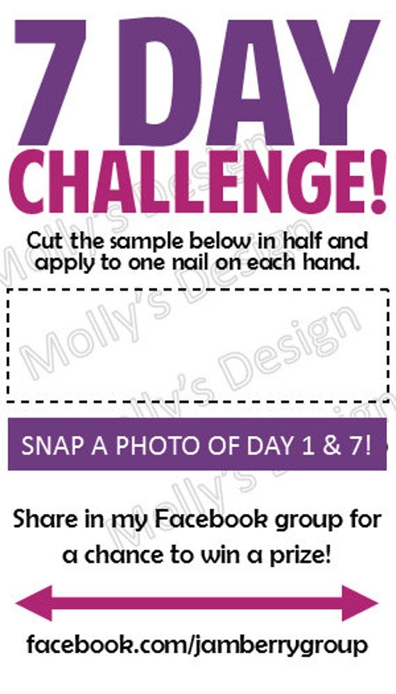 Items similar to jamberry 7 day challenge business card digital items similar to jamberry 7 day challenge business card digital download 9 cards to sheet of paper customized and made to order on etsy reheart Choice Image