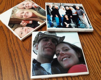 Set of 6 - Customized Individual Picture Coasters
