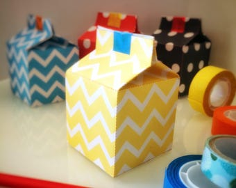 "Favor box ""Milky Yellow Bone"" for kids birthday. Party decorations. Colored boxes for gifts."