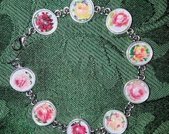 Glass Roses Bracelet