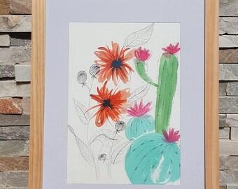 Abstraction, Original Watercolor