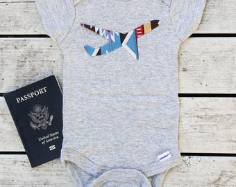 Airplane Baby Onesie® - Travel Baby Shower Gift - Travel Baby Onesie® - More Fabric Available