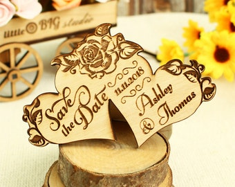 Hearts save the date wood save the date wedding save the date wood wedding save the date rustic wedding save the date rustic save the date