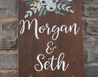 Welcome custom wedding sign | Wedding Signage |  Wedding Details and Decor | Custom Color Options Available