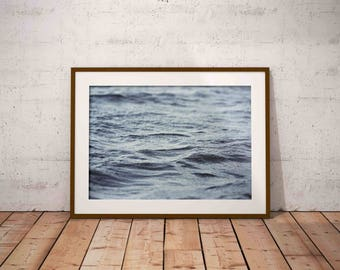 ocean waves print , ocean print , beach photography , blue water print  , ocean water , nautical decor , beach wall art , printable poster