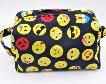 Emoji Travel Pouch, Text Ditty Bag, Dopp Kit, Toiletry Bag, Texting Tweets, Pencil Case, Makeup Bag, Zip Pouch, Gifts for Teens, Emoji I