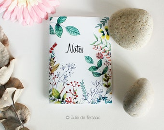 Illustrated notebook - A6 - flowers