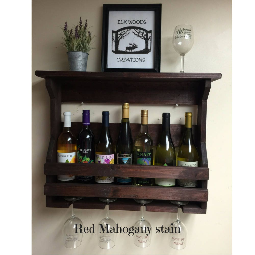 120 Best Images About Rusticmount Nmagic Wedding On: Wall Mounted Wine Rack