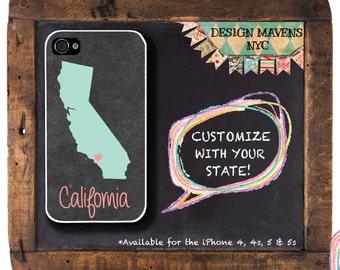 California iPhone Case, Personalized iPhone Case, iPhone 8, 8 Plus, iPhone 7, 7 Plus, iPhone 6, 6s, 6 Plus, SE, iPhone 5, 5s, 5c