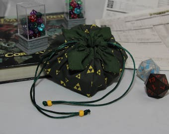 Legend of Zelda - Triforce- Lotus Petal Dice Bag